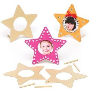 Fotolijstjes ster ( VOORRAAD 1 SET 5 STUKS)