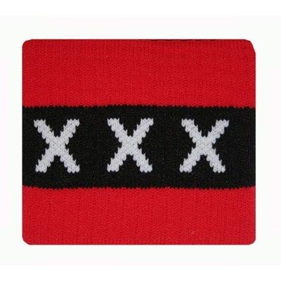Aanvoerdersband Ajax rood/zwart