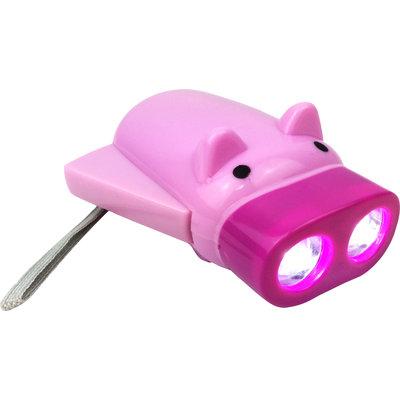 Zaklamp varkentje ECO ( geen batterijen nodig!) ( 46 stuks OP = OP )