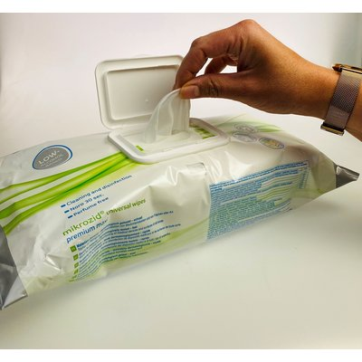 Schülke Mikrozid universal wipes premium 25 x 25 cm effectief tegen Corona binnen 15 sec