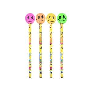 Smileface potloden met gum