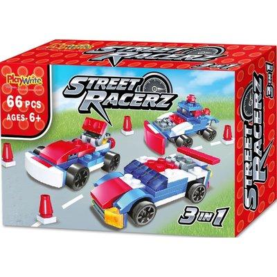 Street racer bouwsteentjes in doosje ( Voorraad: 24 stuks)
