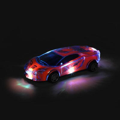 Raceauto night met licht en geluid
