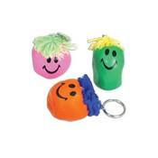 Smiley Stress Sleutelhanger