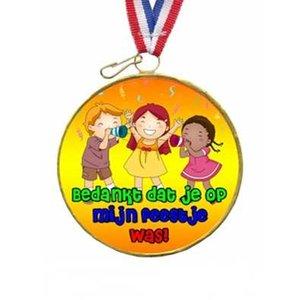 Choco medaille bedankt voor het feestje!