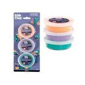 Silk clay set á 3 stuks groen, paars en oranje