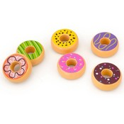 Donuts hout 6-delig