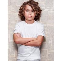 Kinder T-shirt wit maat 98-104 ( 15 stuks op = op)