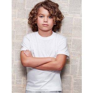 Kinder T-shirt wit maat 98-104