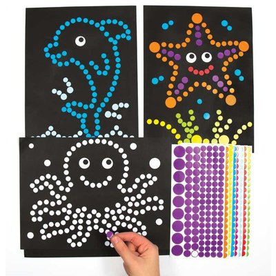 Sticker plakkaarten zeeleven