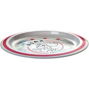 Bord plastic ajax wit/rood logo