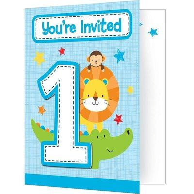 Uitnodiging Jongen 1 jaar
