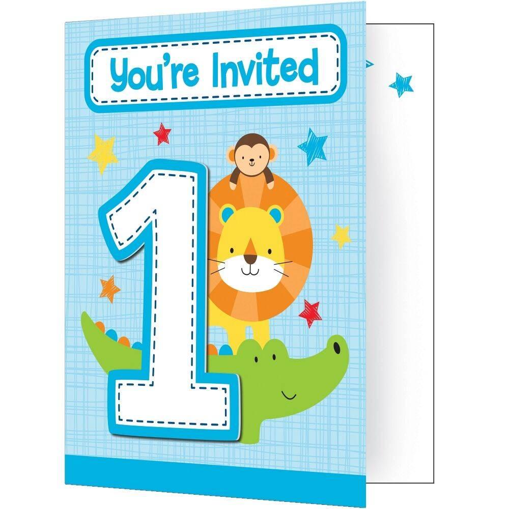 Verwonderlijk Uitnodiging Jongen 1 jaar - Kidsfeestje BE AI-25