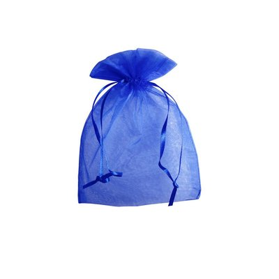 Organza zakje royal blue (12,5 x 17,5 cm)