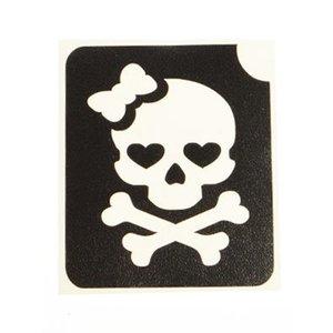 Tattoo Sjabloon Piraten Meisje ( Voorraad: 9 stuks)