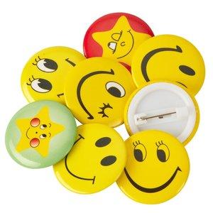 Be happy mini button