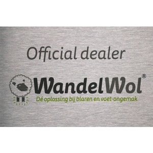 Wandelwol RVS bordje Official Dealer Wandelwol