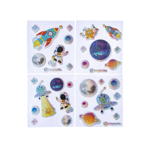 Stickervel space glitter