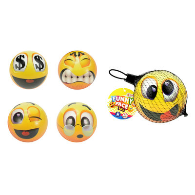 Smiley stress bal ( Voorraad 62 stuks OP=OP)