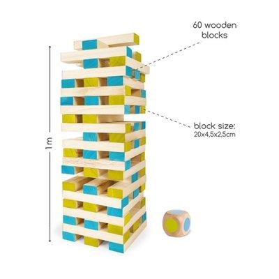 Grote houten toren (met dobbelsteen)