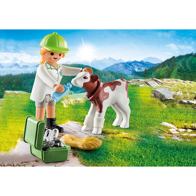 Playmobil Playmobil Plus 70252 Dierenarts met kalf