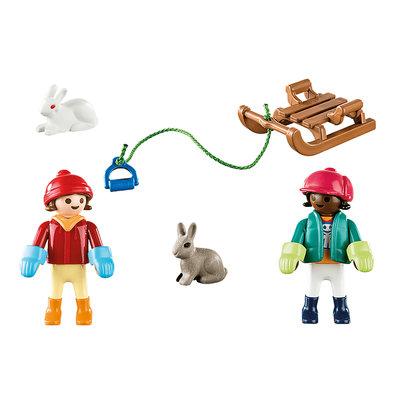 Playmobil Playmobil Plus Kinderen met slee
