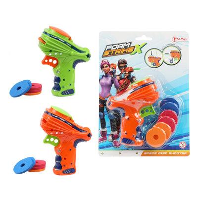 Foam pistool met foam schietschijven ( VOORRAAD 17 STUKS OP=OP)