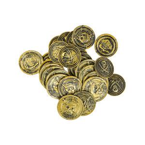 Piraten muntstukken in netje