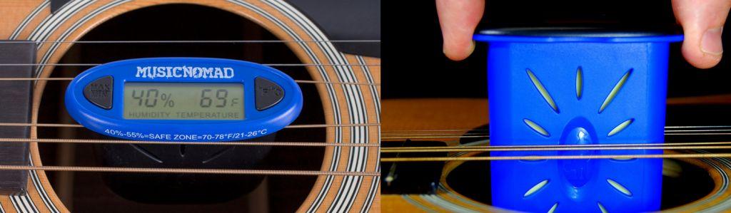 Voorkom uitdrogen van uw gitaar