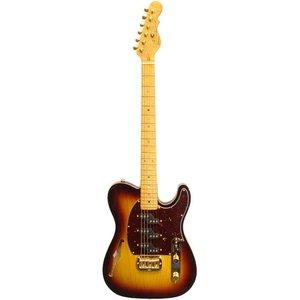 G&L ASAT Z-3 Semi Hollow Elektrische gitaar Tobacco Sunburst