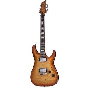 Schecter C-1 Custom Elektrische gitaar Natural Vintage Burst