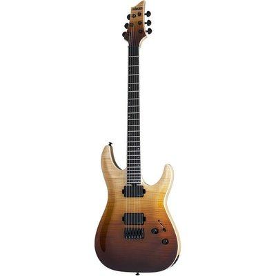 Schecter C-1 SLS Elite Elektrische gitaar Antique Fade Burst