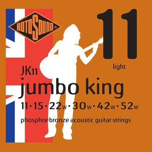 Rotosound JK11 Snaren Jumbo King Phosphor Bronze Light