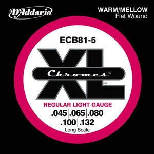 D'Addario ECB81-5 Snaren Chromes Regular Light
