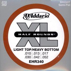 D'Addario EHR340 Snaren Half Rounds Light Top/Heavy BTM