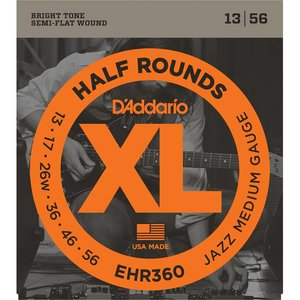 D'Addario EHR360 Snaren Half Rounds Jazz Medium