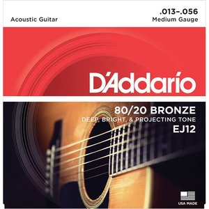 D'Addario EJ12 Snaren 80/20 Bronze Medium