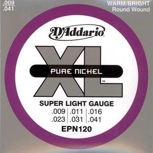 D'Addario EPN120 Snaren Pure Nickel Super Light