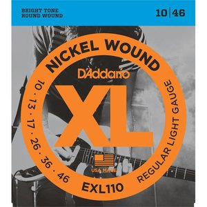 D'Addario EXL110 Snaren Nickel Wound Regular Light
