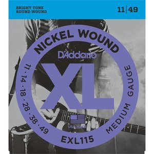 D'Addario EXL115 Snaren Nickel Wound Medium