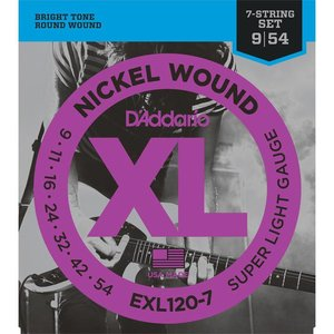 D'Addario EXL120-7 Snaren Nickel Wound Super Light 7-String