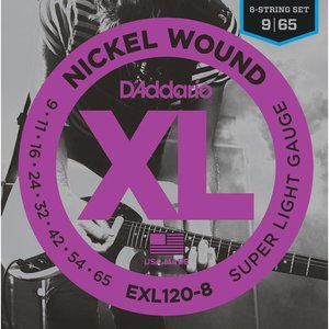 D'Addario EXL120-8 Snaren Nickel Wound Super Light 8-String
