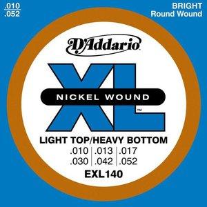 D'Addario EXL140 Snaren Nickel Wound Light Top/Heavy BTM