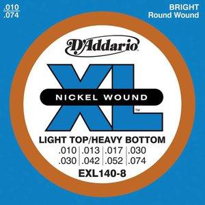D'Addario EXL140-8 Snaren Nickel Wound Light Top/Heavy BTM 8-String