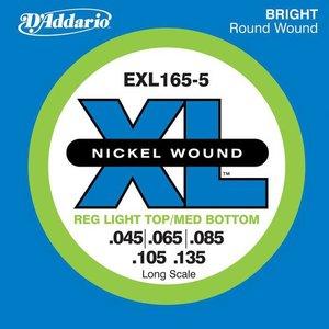 D'Addario EXL165-5 Snaren Nickel Wound Reg Light Top/Med BTM