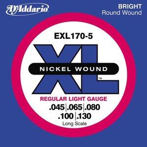 D'Addario EXL170-5 Snaren Nickel Wound Regular Light