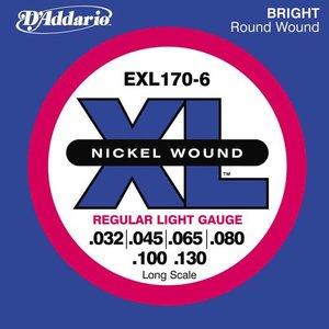 D'Addario EXL170-6 Snaren Nickel Wound Regular Light