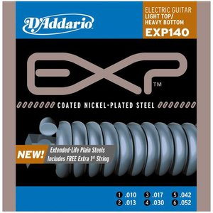 D'Addario EXP140 Snaren Coated Nickel-Plated Steel Light Top/Heavy Bottom