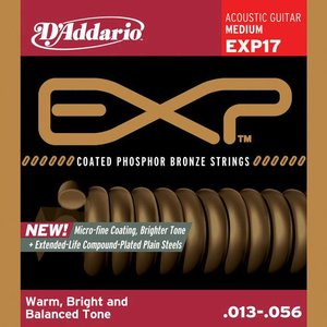 D'Addario EXP17 Snaren Coated Phosphor Bronze Medium