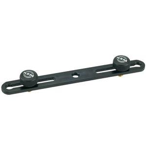 K&M 23550 Microfoonrails Black